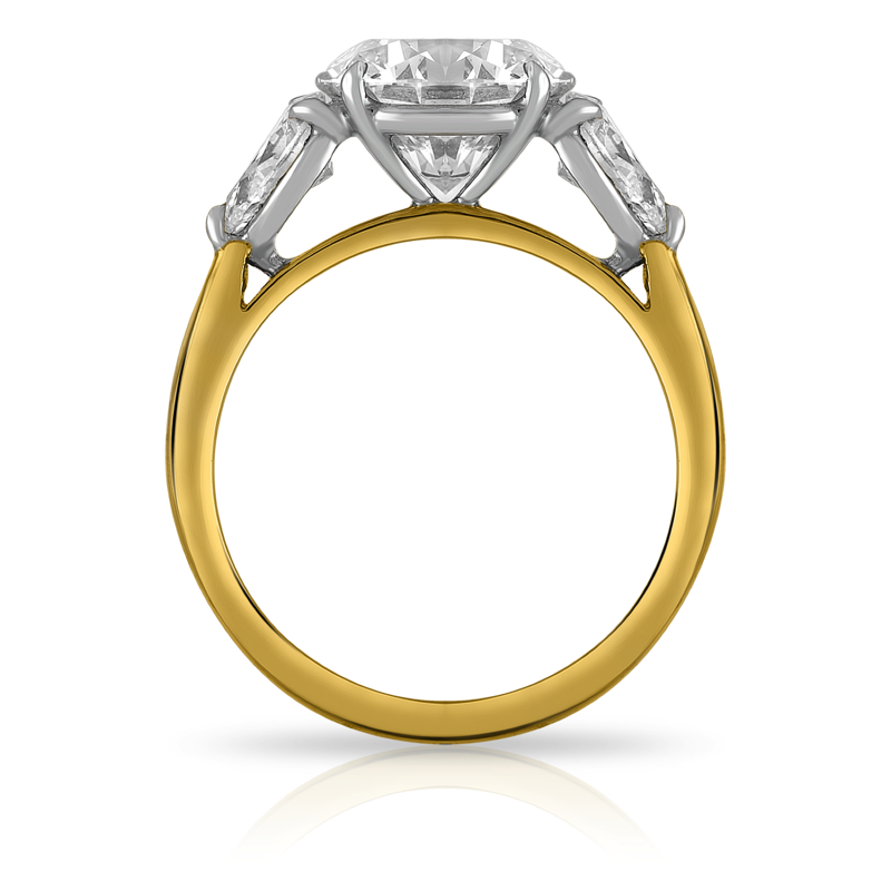 Three Stone Diamond Ring Yellow Gold