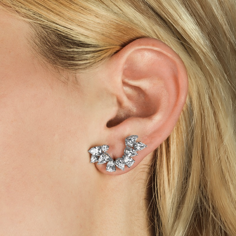 "a3655d1cd40b3e PLATINUM AND DIAMOND ""EAR CLIMBER"" EARRINGS – Shah & Shah"